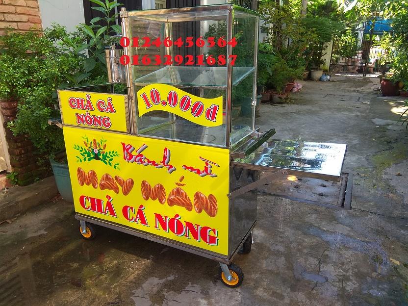 Giá bán một chiếc xe bánh mì chả cá bằng inox bao nhiêu tiền