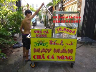 Bán xe bánh mì chả cá bằng inox giá rẻ ở Đồng Nai, Bình Dương, Bình Phước