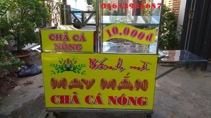 Cho thuê xe bánh mì chả cá bằng inox giá rẻ