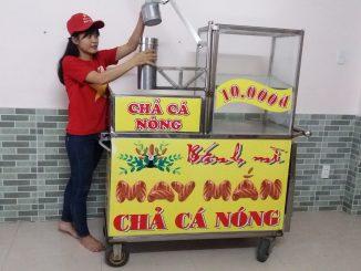 Giá bán xe bánh mì chả cá inox bao nhiêu tiền
